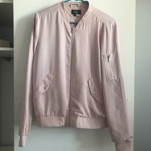 ONLY brand Baby pink bomber jacket
